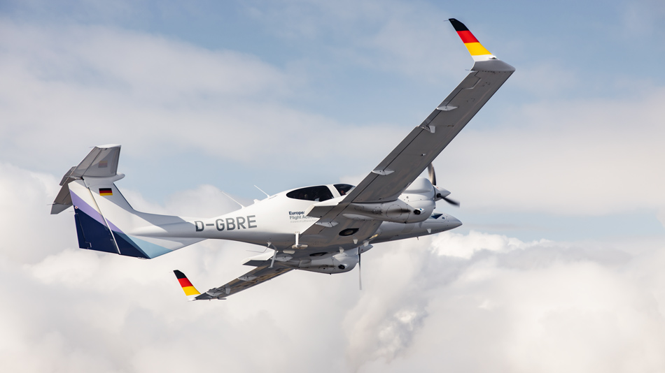 European Flight Academy aircraft in the clouds