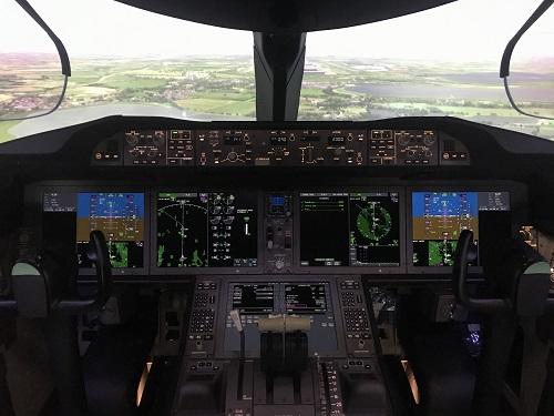 Cockpit Boeing 787